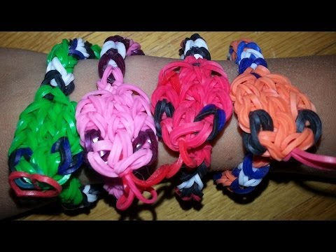 RAINBOW LOOM SNAKE BRACELET - How to make
