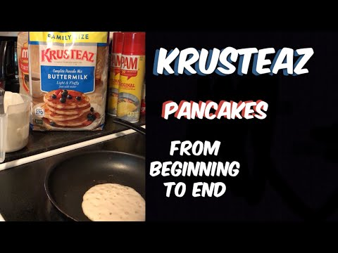 HOW TO COOK A KRUSTEAZ PANCAKE | FROM BEGINNING TO END | HOW LONG TO COOK KRUSTEAZ PANCAKES