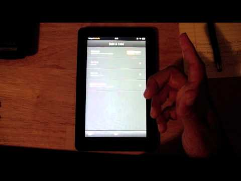 Kindle Fire: Set / Change Date & Time​​​ | H2TechVideos​​​
