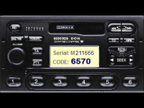FORD RADIO CODE - GET IT FREE, FIESTA, MONDEO, FOCUS, GALAXY AND MANY MORE