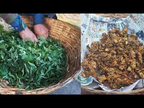 Making Bhang pakoda on the eve of maha shivratri | happy shivratri | ayurvedic indian hemp