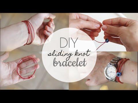 DIY Sliding Knot Bracelet