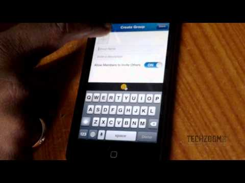 BBM app on iPhone 5 with iOS 7 (Demo)