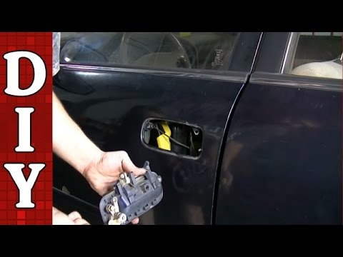 How to Remove and Replace a Broken Exterior Door Handle - Toyota Camry