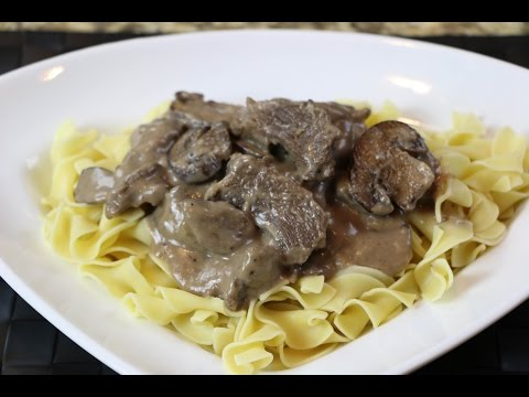 How to Make Beef Stroganoff -  Homemade Beef Stroganoff Recipe