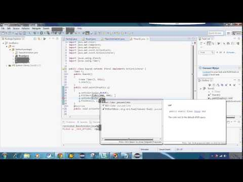 make animation from java using  Timer in swing. How to make simple animation java android