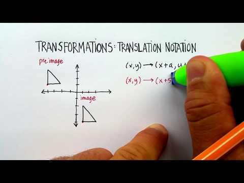 Transformation: Translation Notation