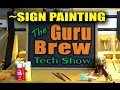 Simple Artistic MDF V-Carved Sign Painting Technique