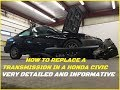 Sleeper Build Part 1-Honda civic transmission replacement  (STEP BY STEP VERY DETAILED)