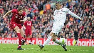 Liverpool Legends 3-2 AC Milan | Fowler flick, Pirlo free-kick and a Steven Gerrard winner