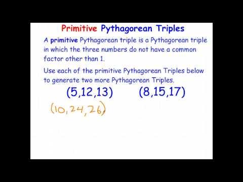 Primitive Pythagorean Triples