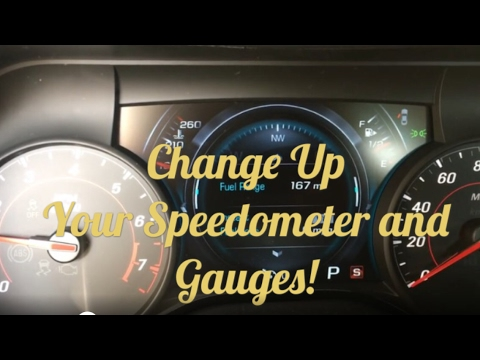 2016/2017 Camaro How to Change the Speedometer Gauge Display Theme