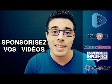 Comment être sponsorisé sur YouTube ? - Influence4Brands, Octoly, Sponsorit (Expand Network), etc...