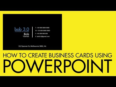 How to create a business card using PowerPoint