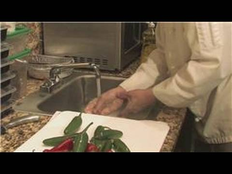 Cooking Techniques : How to Wash Hot Peppers Off Your Hands