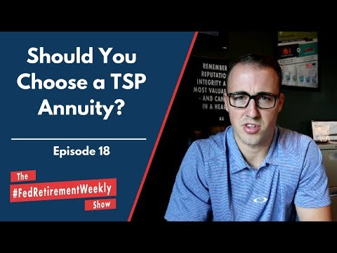 Should You Choose a TSP Annuity?!  | #FedRetirementWeekly Ep. 18