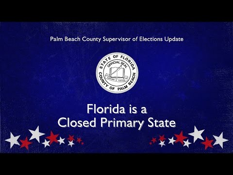 Florida is a Closed Primary Election State