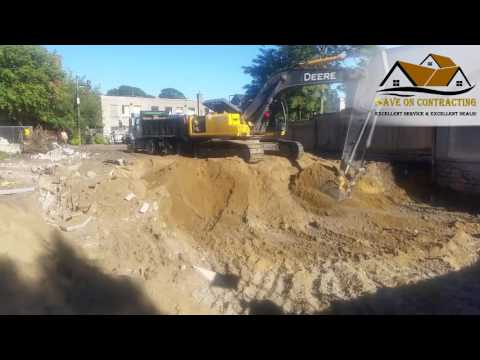 Construction of four semi detached homes in Toronto- Excavation Stage