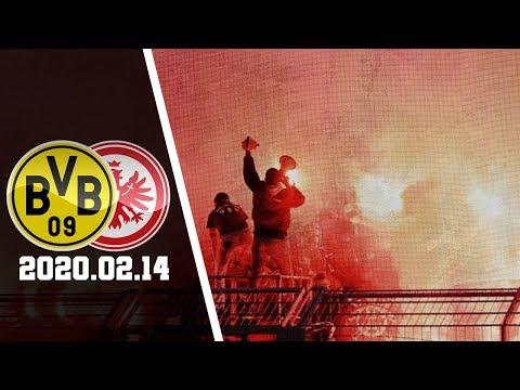 Pyro Frankfurt-Fans In Dortmund | Borussia Dortmund - Eintracht Frankfurt 2020.02.14 | BVB - SGE 4:0