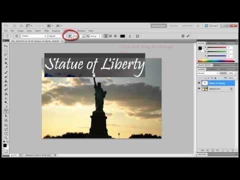 Photoshop - Change Font Size