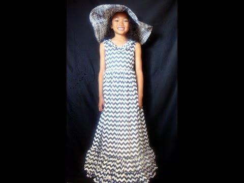 Suri's Navy & White Chevron Dress (Spring/Easter)
