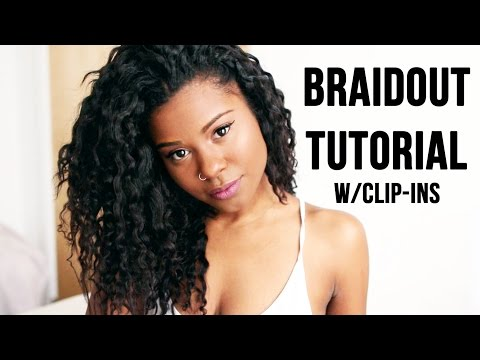 Braidout on Relaxed Hair With Clip In Extensions ft. BETTER LENGTH LIGHT YAKI