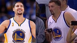 Creepy Klay Thompson Impersonator Shows Up to Warriors Game