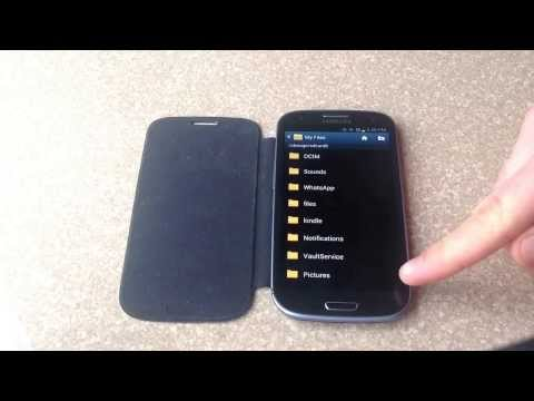 How to transfer pictures from a samsung galaxy s3 to a SD memory card
