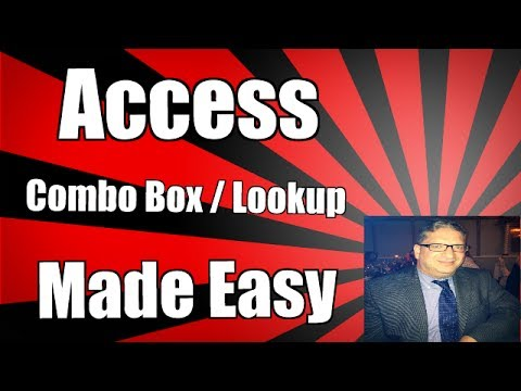 How to add a great lookup field to An Access form using the combo box wizard. Access 2016 2013 2010