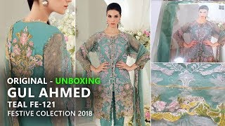f866dab6e5 Gul Ahmed Festive Eid Collection 2018 - Unbox Tael FE121 - Pakistani Dresses  2018