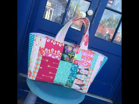 How to Sew A Patchwork Tote Bag Sewing Tutorial and Giveaway