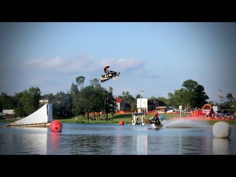 Snowmobile Water Jumps- Grantsburg 2011- Entice Action Short 02