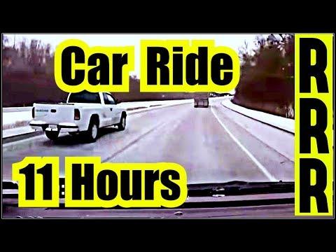 CAR SLEEP  🎧 CALMING CAR SOUNDS ✪ 11 Hours of CAR RIDE