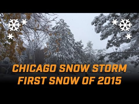 Chicago Snow Storm / First Snow Fall of the Season 2015