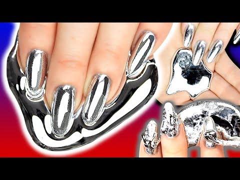 GALLIUM NAILS! Gallium Silver Chrome Foil Nail Art | Metal Nail | NAILED IT OR FAILED IT?