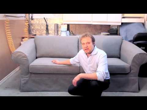 slipcovered sofabed
