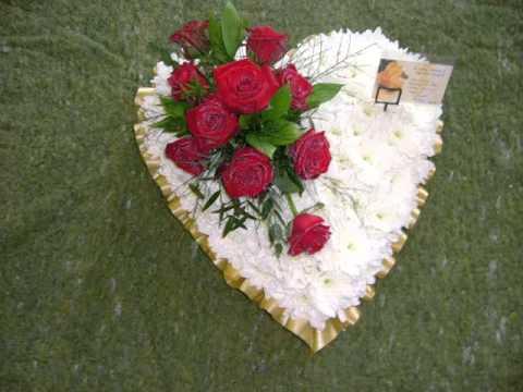 Funeral Flowers Heart Designs