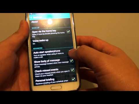 Samsung Galaxy S5: Enable/Disable Auto Speakerphone When Using S Voice to Make a Call