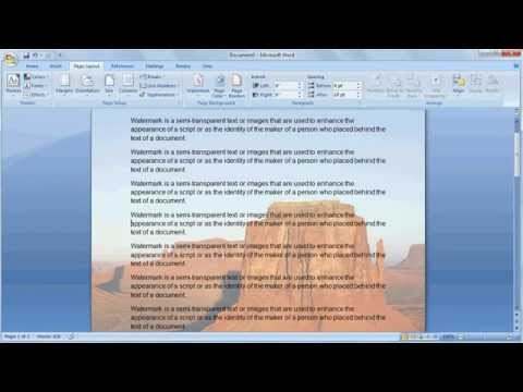 How to create a watermark in word | Picture watermark
