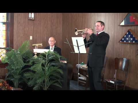 Performing Two Pieces for Trumpet with Mr. Jerry Gibson
