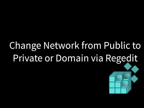 Change Network from Public to Private or Domain via Regedit