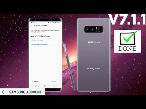 GALAXY NOTE 8 BYPASS SAMSUNG ACCOUNT REMOVE REACTIVATION LOCK 7.1.1