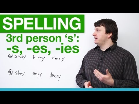 Spelling - Rules for Third Person 'S'