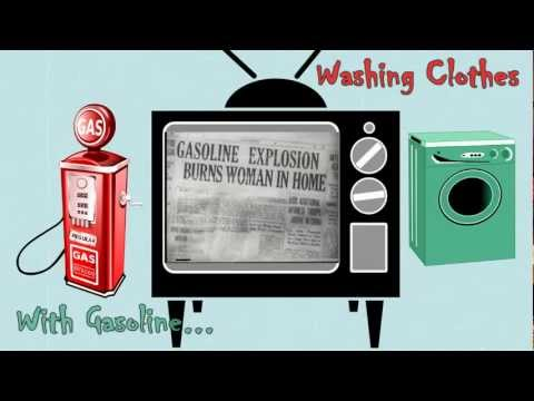 Classic Epic Fail: Wash Your Clothes with Gasoline! NOT!