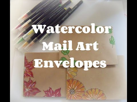 DIY Watercolor Mail Art Envelopes/ How to make mail art/ Easy Mail art ideas