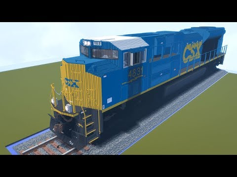 Minecraft Giant CSX SD70ACe Locomotive Review
