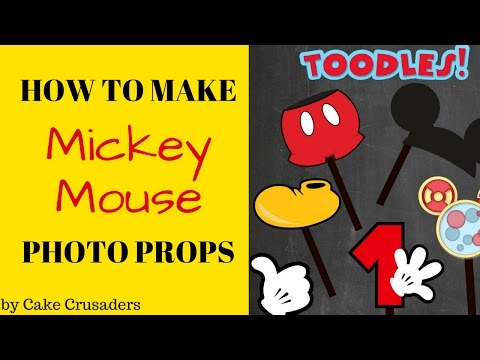 How to: Mickey Mouse Photo Props plus FREE printables included