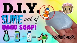 Diy slime out of body wash non stick slime you can play with diy slime out of hand soap non stick slime without glue borax cornstarch salt etc ccuart Gallery