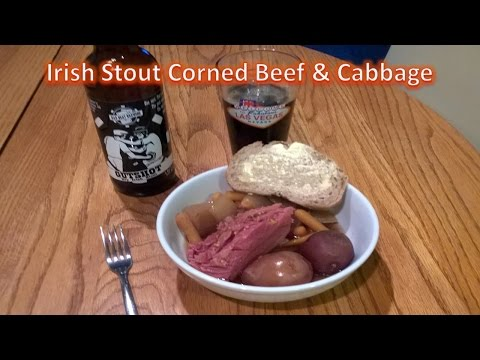 Slow Cooker - Irish Stout Corned Beef and Cabbage