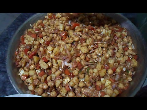 How to Make Spicy Chana Chaat  -   Pakistan